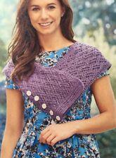 KNITTING PATTERN Ladies Twist Textured Uniscarf Scarf Cowl Button Detail Blacker