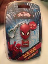 NEW! MARVEL COMICS ULTIMATE SPIDER-MAN - 8GB USB SPIDERMAN FLASH DRIVE KEYCHAIN!