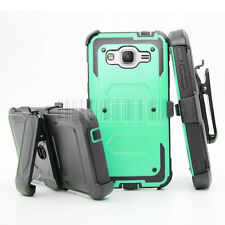 Shockproof Rugged Hybrid Hard Case Protective Cover Clip Holster For Samsung