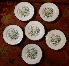 Servizio per 6 piatti da frutta dessert ceramica Pagnossin Treviso decoro fiori.