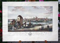 MÜNCHEN-Kupferstich und Radierung nach Canaletto-Platte 44,5x65,5 cm