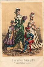 """34/ GRAVURE DE MODE """"  JOURNAL des DEMOISELLES """" 1876"""