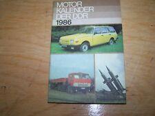 Calendrier automobile Moteur Buch der DDR 1986 Simson W50 NVA Wartburg Trabant
