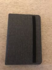 Edge iPad Mini Cover W/ Keyboard, Folding Gray, Elastic Strap Closure