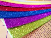 Glitter Craft Foam Sheets 2mm Thick EVA Pads Childrens Art and Craft A4(20x30cm)