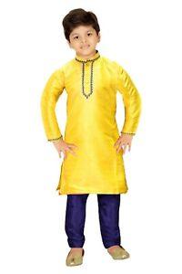 Boy's Kid's  Indian Dupin Kurta Pajama Traditional Outfit BK570