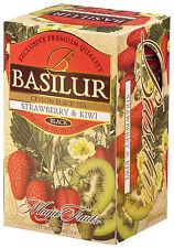 Basilur Tea-Fresa & Kiwi Té – envase de 3 Cajas (total 60 Bolsas)
