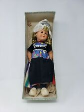 "1958 Estate Dutch Doll Volendam Girl 15"" VTG Wooden Shoes w/Original clothing"