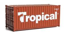 Walthers HO Scale 20' Corrugated Shipping Container Tropical (Brown/White)