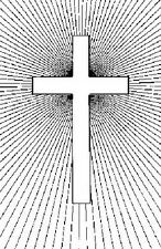 PERSONAL IMPRESSIONS Wood Mounted Rubber Stamp RADIATING CROSS Easter P466M