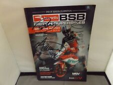 2008 BRANDS HATCH BSB PROGRAMME SIGNED BY 8 RIDERS - SYKES CAMIER HASLAM etc