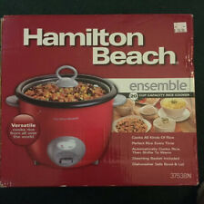 HAMILTON BEACH Rice Cooker Steaming Basket Rice Paddle Red New In Sealed Box