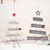 Christmas Party Decorations Tree Ornament Patterned Hanging Accessories Supplies