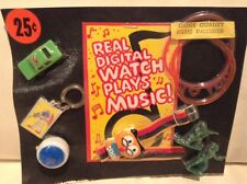 Vintage OWL Music Playing Watch Transformer Army Figures Vending Charm Display
