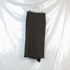 YOHJI YAMAMOTO NOIR brown silk angora wool back ruffle skirt size 2 approx 8 10