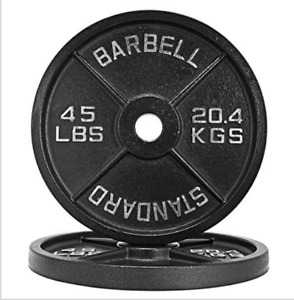 New 45LB Machined Olympic Weight Plates