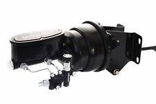74-86 Jeep CJ Black Wilwood Master Cylinder & Proportioning Valve & Booster Kit
