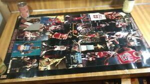 Vintage Michael Jordan Through The Years Poster,34x22,1998,starline,gd!