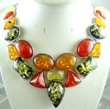 Precious Modernist Multicolor Gem amber Handmade Gemstone Jewellery Necklace P33