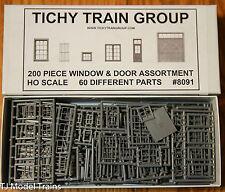 Tichy Train Group #8091 (HO Scale) Window & Door Assortment pkg(200)