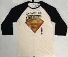 DC Comics Superman Men's Baseball T-shirt Large