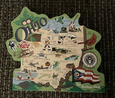"""Cat's Meow Village Ohio State Map The """"Buckeye� State 2002"""