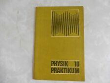 DDR, Lehrbuch, Physik Praktikum 10, Volk und Wissen, 8. Auflage 1971