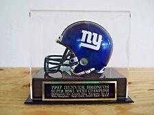 Football Mini Helmet Display Case With A Denver Broncos Super Bowl 32 Nameplate