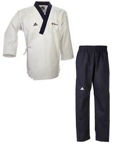 2. Wahl - adidas Poomsae Uniform Senior Männer Taekwondo-Anzug - WT-Logo neu 200
