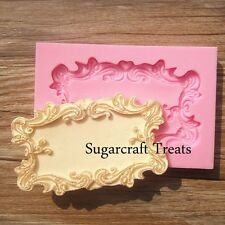 Picture Frame Vintage Ornate Baroque Silicone Mould Sugarcraft, Cup Cake Fimo