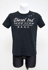 Da Uomo Diesel T shirt girocollo a maniche corte 100% Cotone Nero Taglia S Small EXC