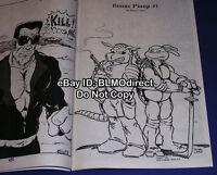 1 HTF 1986 Colt 2 1st Print Early Teenage Mutant Ninja Turtles Sketch TMNT