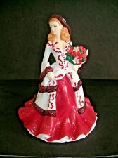 "Royal Doulton Pretty Ladies Christmas Day 2008 Figurine Rare Artist Proof,  8"""
