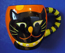 Burton MUG Halloween CAT BLACK WHOOO GOES THERE 2012 Holiday Ceramic