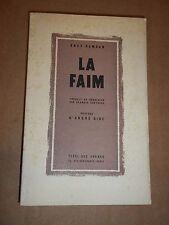"""LA FAIM"" KNUT HAMSUN (1950)"