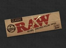 5x Zigarettenpapier RAW  Zigaretten Papier CLASSIC SIZE 1 1/4
