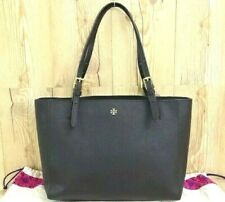 Auth TORY BURCH Hand Shoulder Bag Buckle Tote Leather Black 23160220700 K