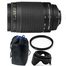 Nikon AF Zoom-NIKKOR 70-300mm f/4-5.6G Lens + 62mm Accessory Bundle