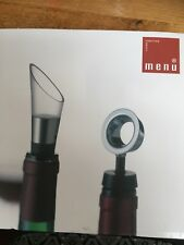 Brand New Menu Decanting Pourer and Vacuuum Bottle Stopper
