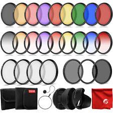 Opteka 58mm 9 Piece HD Graduated & Solid Color Filter Set for Digital SLR Camera