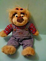 "Real Talking Bubba Plush Bear Redneck Overalls 15"" Tyco Vintage 1997 WORKS"