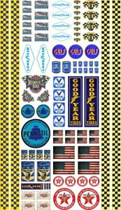 Decal Classic Modelling RC 1:18 1:24 1:14 Stickers Set Universal Goodyear