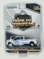Greenlight 1/64 Dually Drivers Series 2 2019 Ford F350 Lariat NYPD Truck