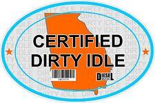 Certified Dirty Idle Sticker not Clean Idle Sicker GEORGIA