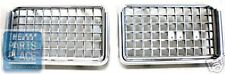 1972 Oldsmobile Cutlass Supreme Grille Silver Plastic 410796 231377 Pair - New (Fits: Oldsmobile)