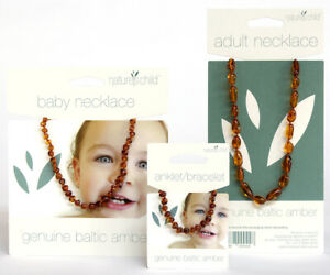Amber Necklace for children and adults not babies Cognac Colour Beads