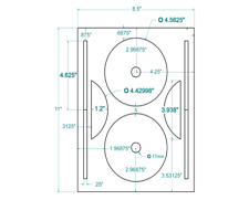 200 CD/DVD Labels  Compulabel® Full Face Layout 312840