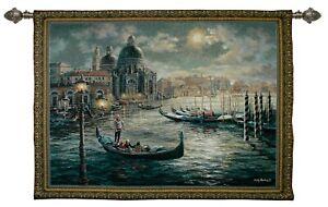 Tapestry Wall Hanging Venetian Gondolier Italian Antique Wall Artwork