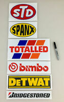Le Mans Spoof Sponsor Stickers - Funny Le Mans Race Car Decals - Lemans Race