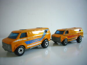 Matchbox Superfast: Chevy van x2, very good condition, made England